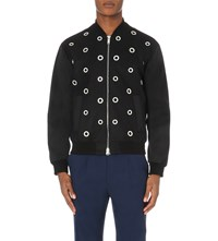 Iceberg Eyelet Wool Blend Jacket Black