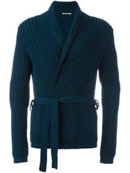Nuur Belted Cardigan Blue