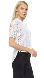 Veronica Beard Starboard Shirt White