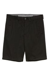 Nordstrom Big And Tall Men's Shop Smartcare Tm Pleated Shorts Black