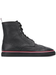 Thom Browne Rubber Cupsole Wingtip Boot Black
