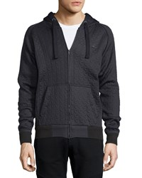 G Star Badyo Cable Knit Hooded Jacket Navy Men's