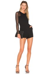 Bcbgeneration Sheer Romper Black
