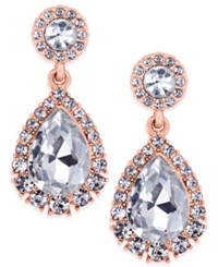 Charter Club Rose Gold Tone Crystal Drop Earrings Only At Macy's