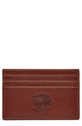 Men's Ghurka Leather Card Case Metallic Vintage Chestnut