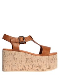 Jeffrey Campbell 90Mm Weekend Leather And Cork Wedges