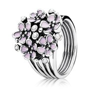 Pandora Design Pink Cherry Blossom Flower Ring