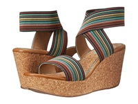Splendid Geena Turquoise Stripe Elastic Women's Wedge Shoes Multi