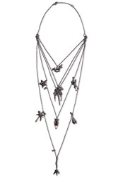 Valentino Burnished Silver Tone Necklace
