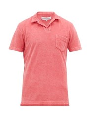 Orlebar Brown Cotton Terry Polo Shirt Pink