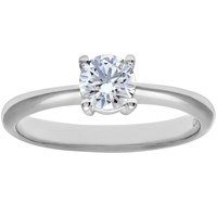 Mogul Diamond Collection 18Ct White Gold Round Brilliant Diamond Engagement Ring 0.33Ct