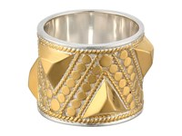Anna Beck Triangle Stud Band Ring Sterling Silver W 18K Gold Vermeil Ring