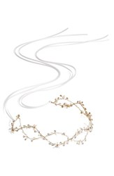 Brides And Hairpins 'Octavia' Pearl Jeweled Headband Gold