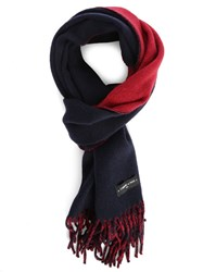 Commune De Paris Blue And Red Pudra Double Face Wool Scarf