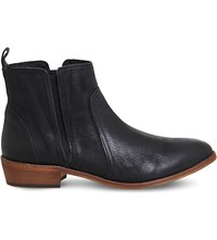 Office Lone Ranger Leather Chelsea Boots Black Leather