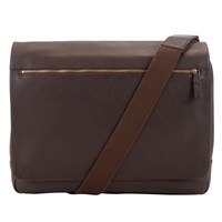 John Lewis Oxford Leather Messenger Bag Brown