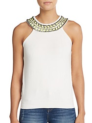 Milly Beaded Necklace Top White