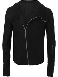 Rick Owens Fitted Biker Jacket Black