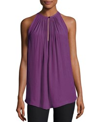 Ramy Brook Piper Sleeveless Keyhole Top Radiant Orchid Purple