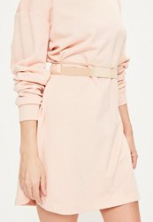 Missguided Gold Metal Cut Out Belt