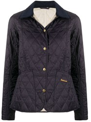 Barbour Quilted Effect Buttoned Jacket Blue