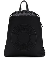 Mulberry Urban Embroidered Logo Backpack Black