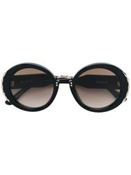 Elie Saab Round Tinted Sunglasses Black