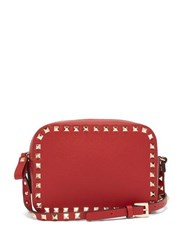Valentino Rockstud Camera Leather Cross Body Bag Red
