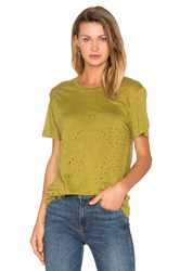 Iro Sija Distressed Tee Green
