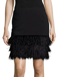 Polo Ralph Lauren Ponte Feather Hem Skirt Black