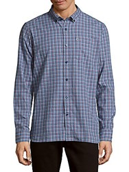 Victorinox Glogghus Check Button Down Shirt Coastal Blue