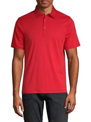 Saks Fifth Avenue Short Sleeve Cotton Polo Red