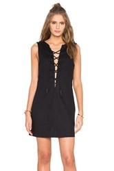 Kendall Kylie Lace Front Dress Black