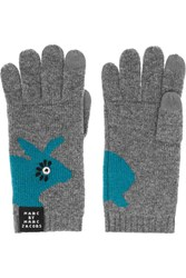 Marc By Marc Jacobs Don't Sweat My Pet Intarsia Merino Wool Gloves