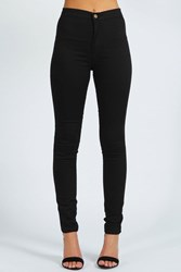 Boohoo High Rise Disco Jeans Black