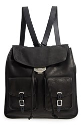Rag And Bone Field Lambskin Leather Backpack Black