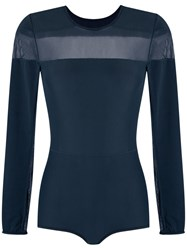 Giuliana Romanno Panelled Body Blue