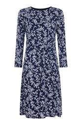 Havren Ashbourne Frill Front Dress Blue