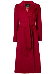 Etro Opal Belted Coat Red