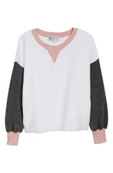 Wildfox Couture True Love Sweatshirt Clean White Multi