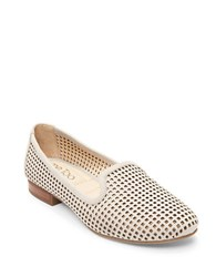 Me Too Yale Round Toe Perforated Loafers Dove Grey