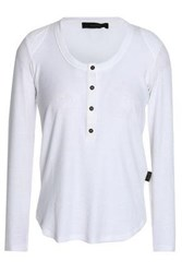 Belstaff Ribbed Stretch Jersey Top White