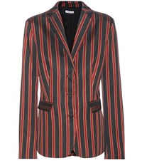 Tomas Maier Striped Blazer Red