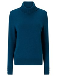 Jacques Vert Roll Neck Cashmere Mix Jumper Green
