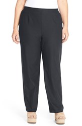 Plus Size Women's Eileen Fisher Washable Stretch Crepe Knit Pants Graphite