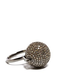 Jade Jagger Diamond Disco Ball Ring Silver