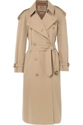Burberry The Westminster Long Cotton Gabardine Trench Coat Beige Gbp