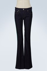 Red Valentino Flare Pant With Side Details Blue Green