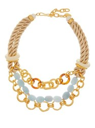 Lizzie Fortunato Marbella Gold Plated Chain And Rope Necklace Multi