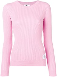 Calvin Klein Jeans Ribbed Knit Sweater Pink